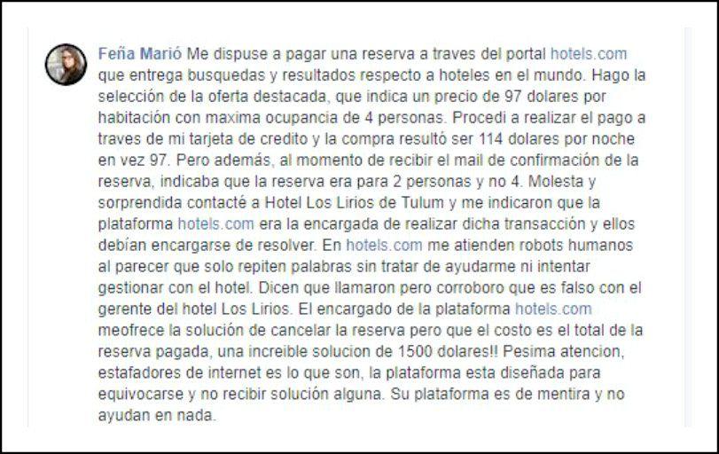 Hoteles.com opiniones