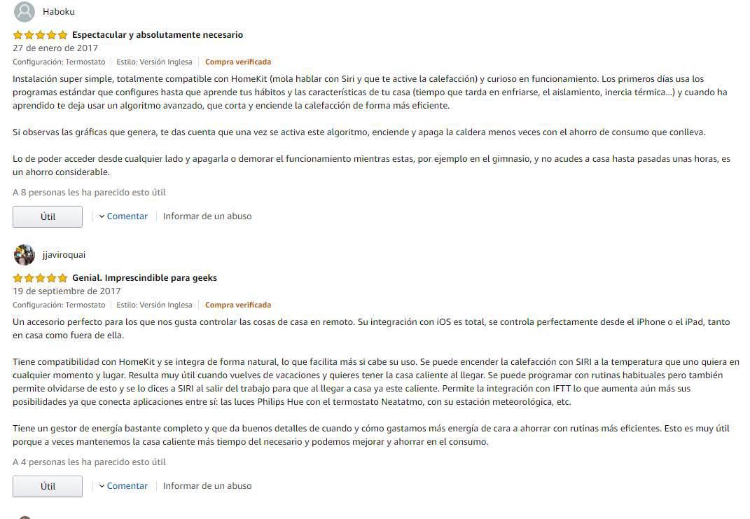 Opiniones Amazon  Netatmo Termostato Inteligente Caldera Individual