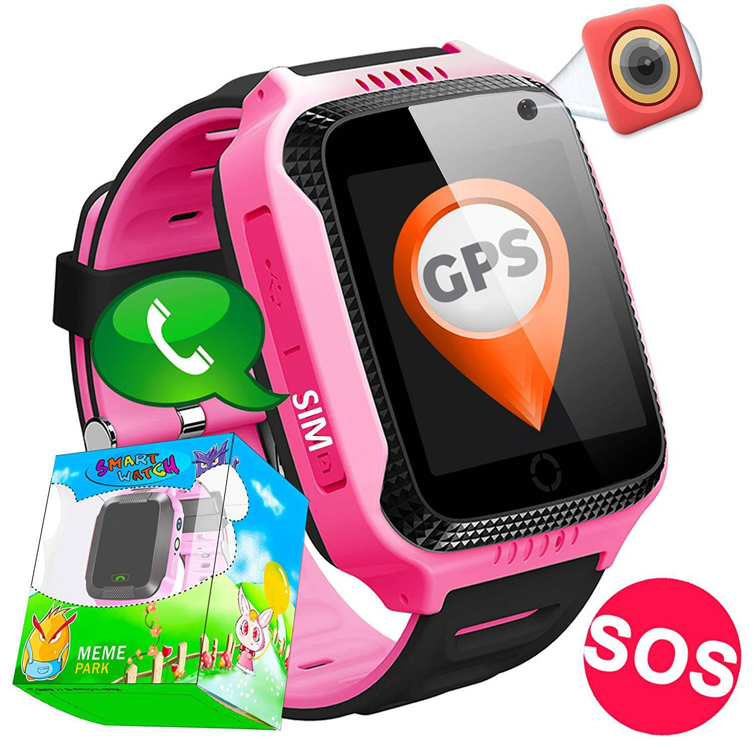 TURNMEON GPS Tracker Smartwatch Rosa