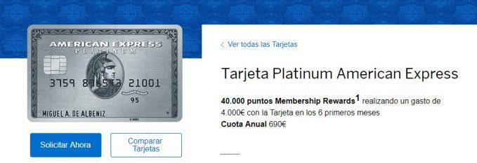 Tarjeta American Express Platinum