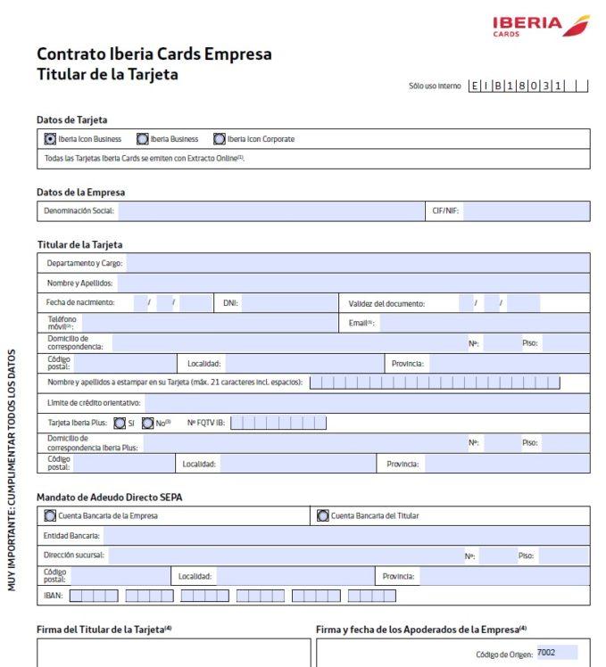 Solicitud Iberia Business
